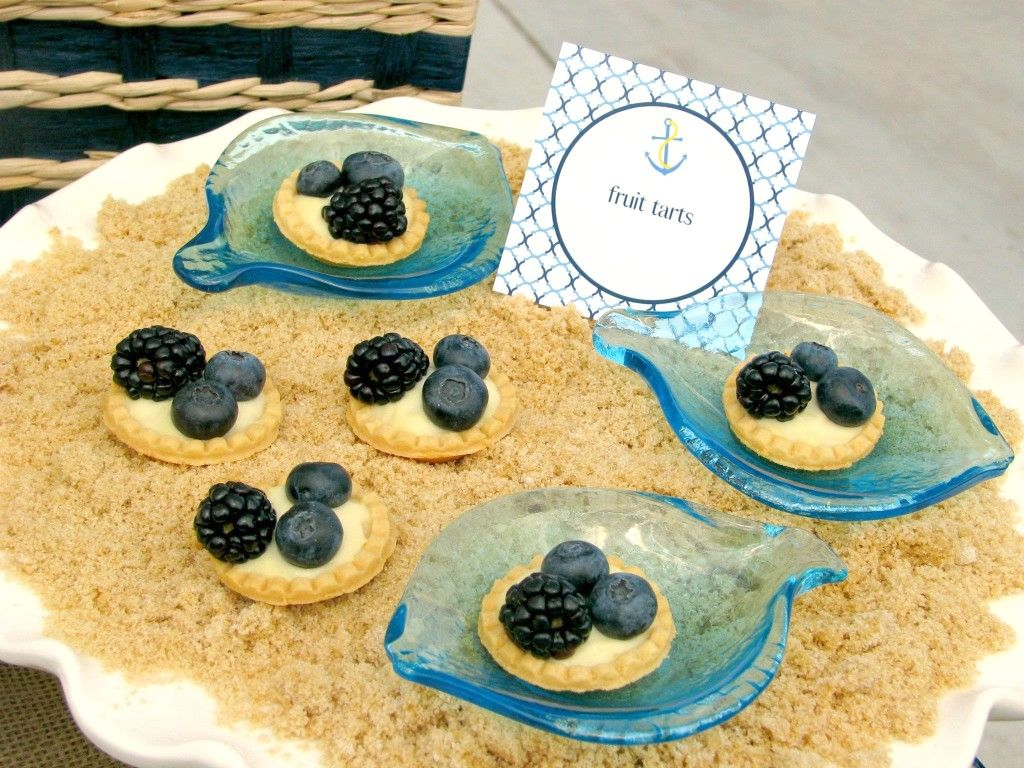 finger food ideas for bridal shower%0A Nautical Themed Baby Shower Food Ideas  PinkDucky com