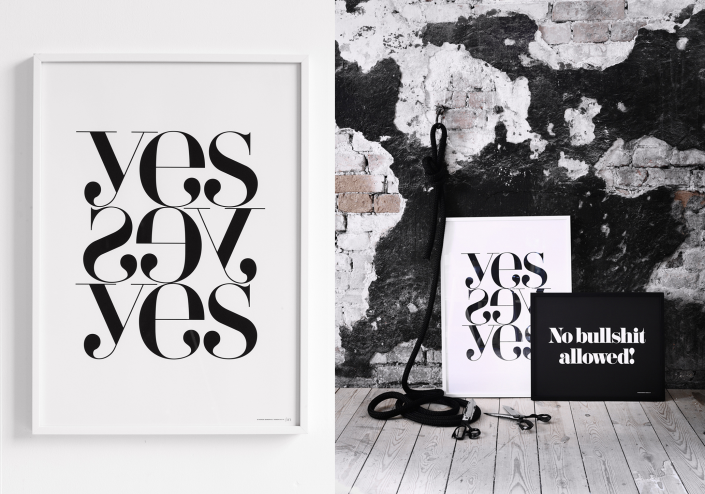 Therese Sennerholt Home : Therese sennerholt webshop yes yes yes print typography