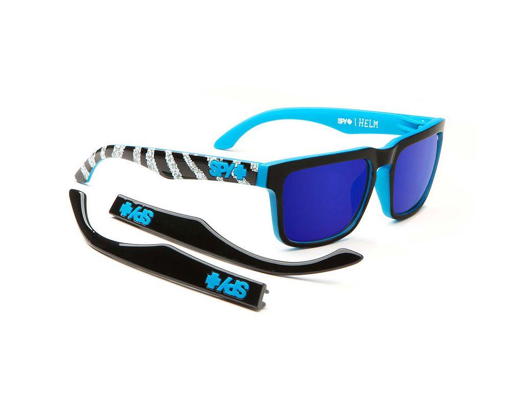 40e90a3172 Spy Helm Matte Black-Brnonze w-Darck Blue Spectra 57 18  spy  sunglasses   optofashion To Spy Helm είναι ένα κοκκάλινο γυαλί ηλίου με μαύρο ματ  πλαίσιο και ...