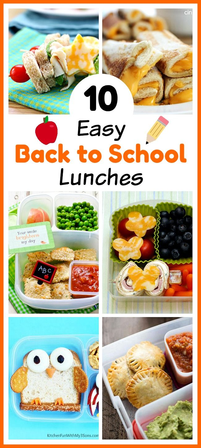 10 easy back to school lunches school lunch lunches and homemade