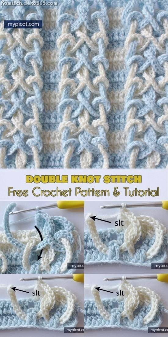 Einzigartige und Kreative Gratis Häkelanleitung mit Doppelknotenstich #crochetmotif