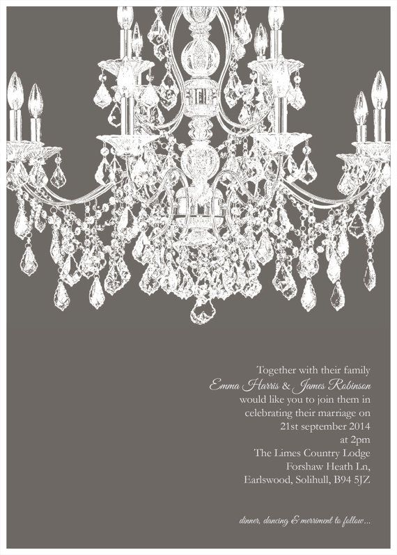 Instant Download - Grand Chandelier invitation Printable Template ...