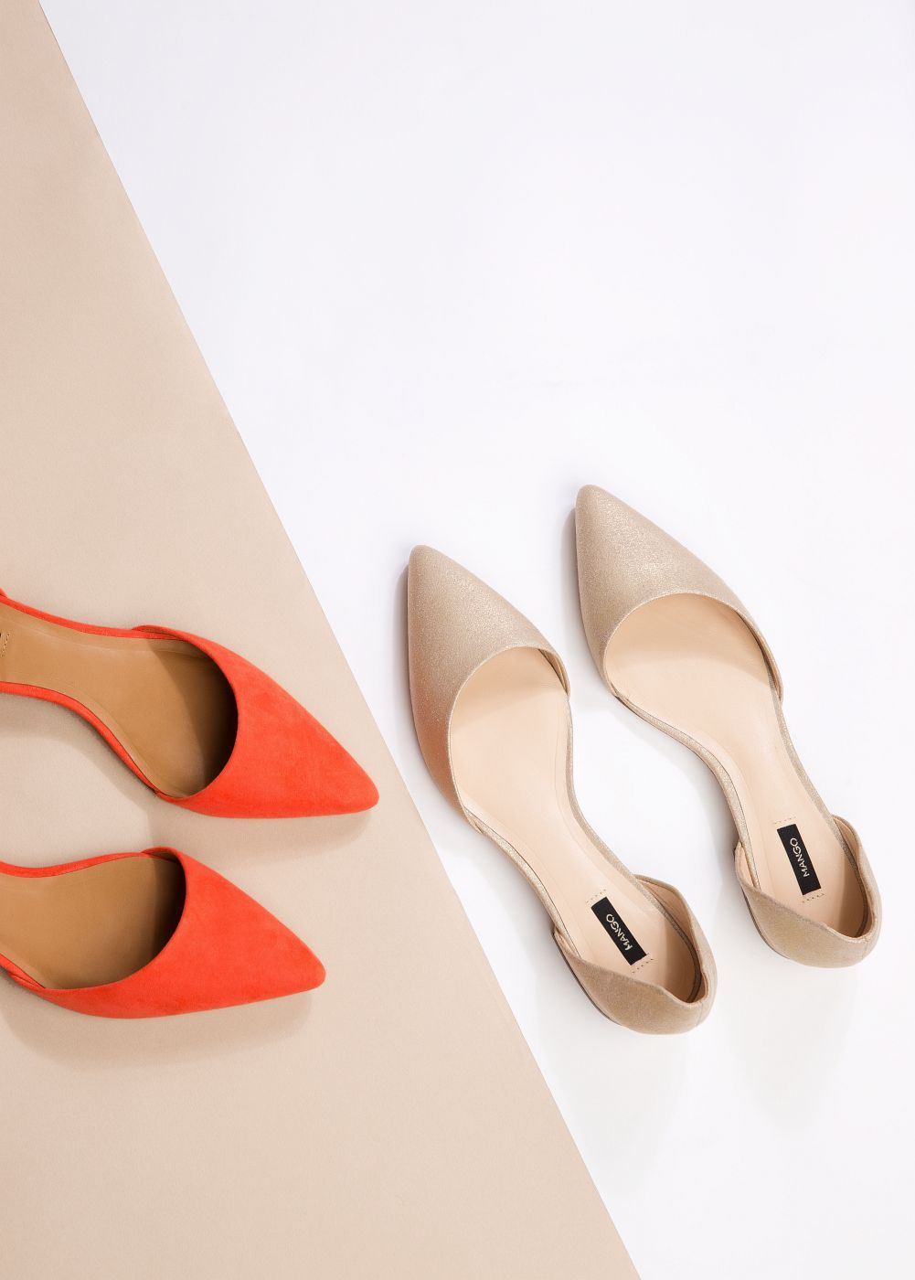 Pointed toe flat shoes - Mango