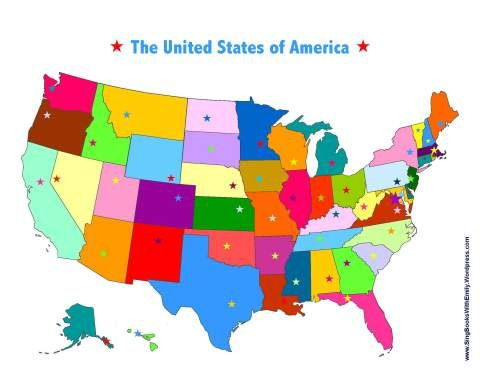 Capital Of Usa Map.United States State Capitals Song A Singable Picture Book Sbwe