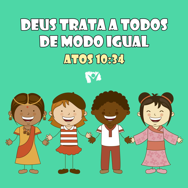 Versinho Para Decorar 3 Atos 10 34 Versiculo Infantil Escola