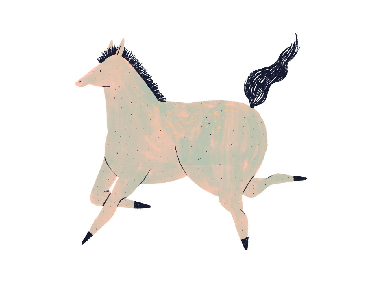 Lizzy O´Donnell | Horse illustration, Horses, Moose art