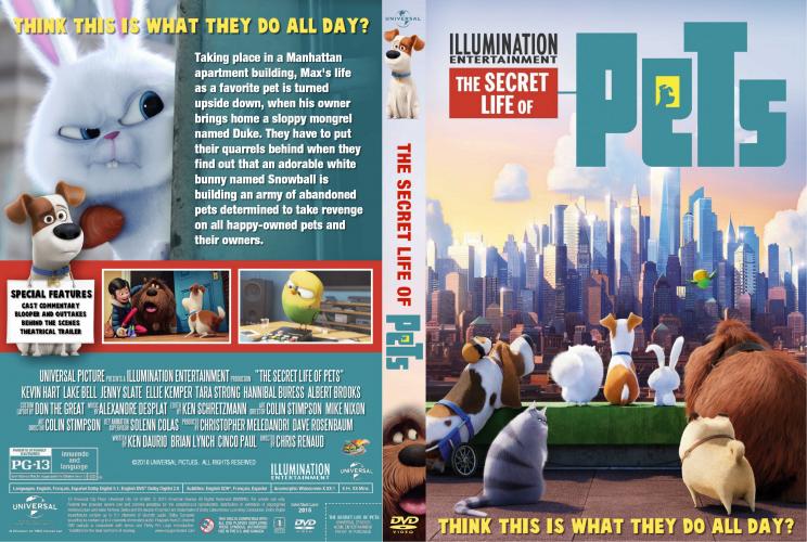The+Secret+Life+Of+Pets+(2016) Custom dvd, Dvd cover