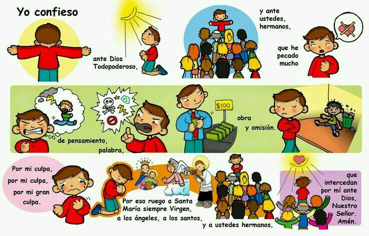 El Acto Penitencial Catholic Kids Catholic Catechism Catechism