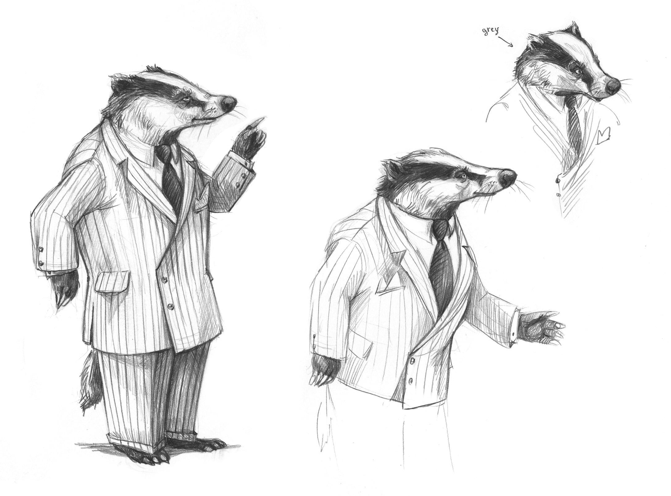 Fantastic Mr X Character Design For Badger