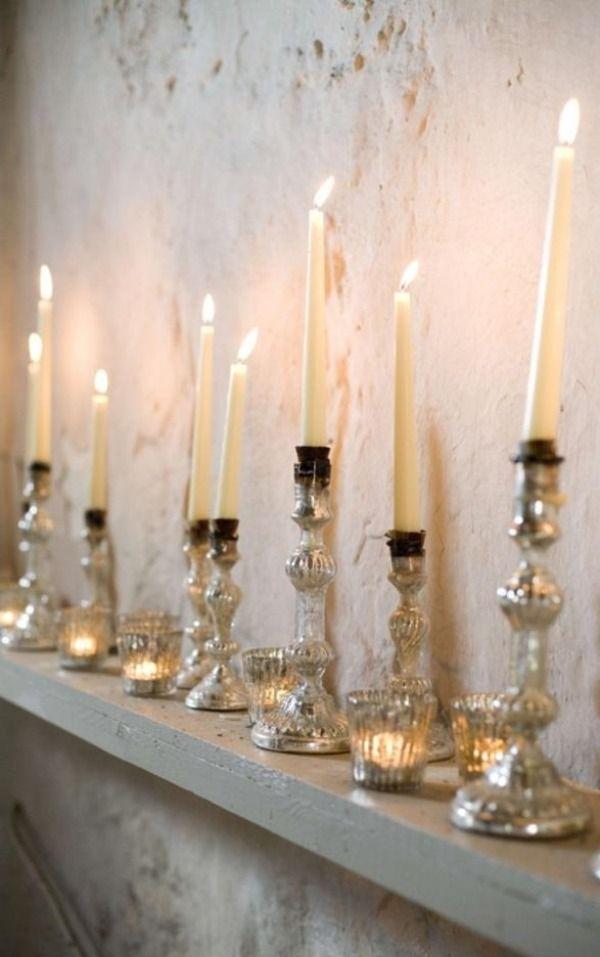 Kerzenständer elegant Beleuchtung-Valentinstag romantische Ideen - schlafzimmer beleuchtung ideen