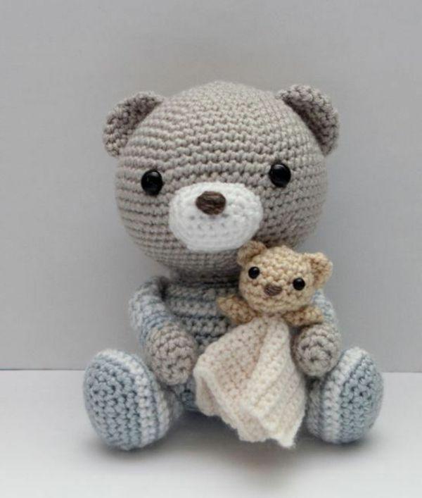 Mutter Bär Und Babybärchen Häkeln Crochet Amigurami Pinterest