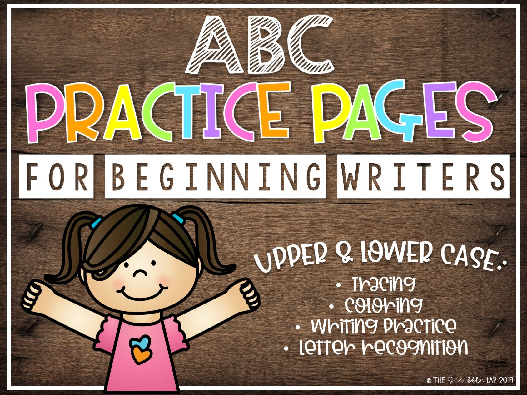 Abc Letter Formation Practice For Beginning Writers