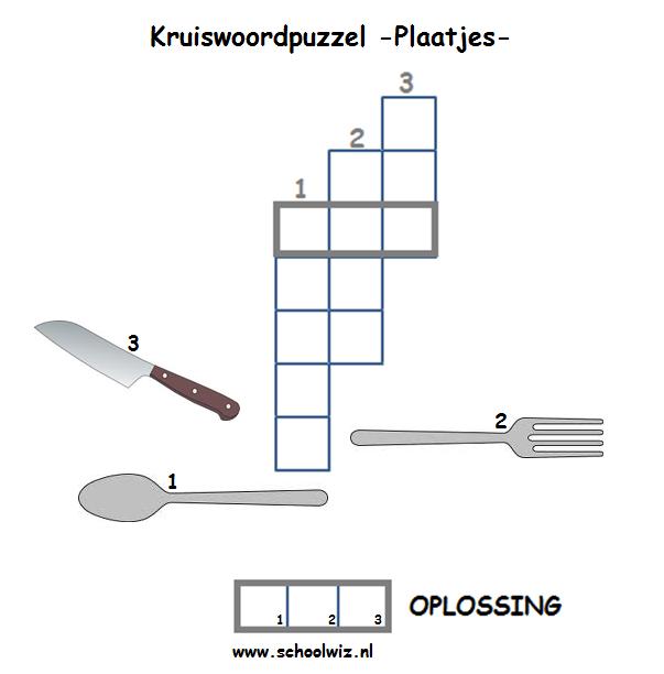 Goede Schoolwiz - Taaloefeningen groep 3 (2)   Kruiswoordpuzzel QM-34