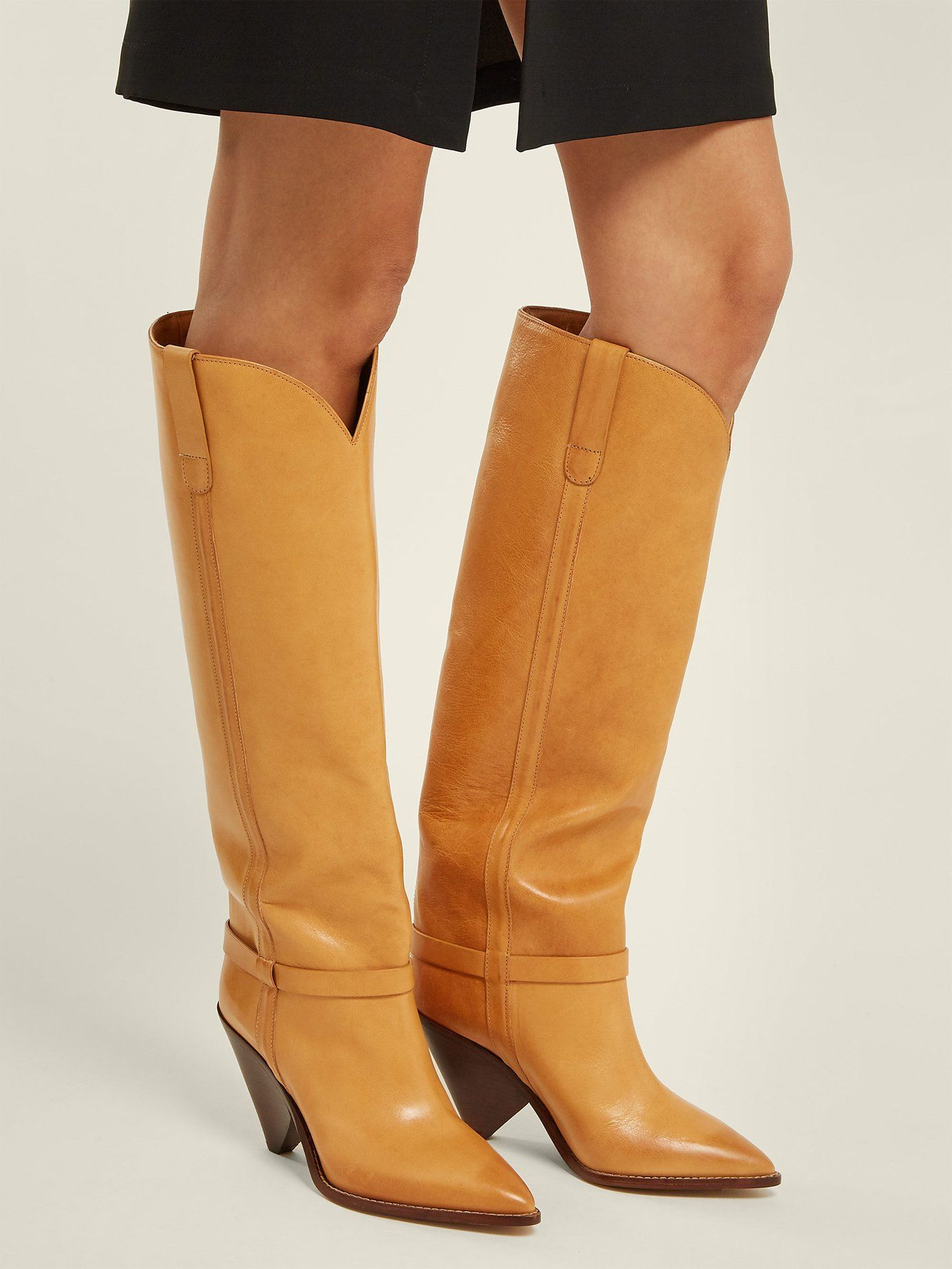 0f0b7b95280 Lafsten thigh-high leather boots
