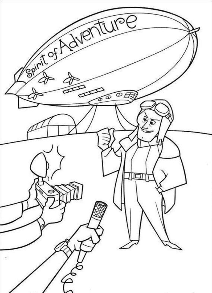 Up Spirit Of Adventure Coloring Page Photos Cartoon At