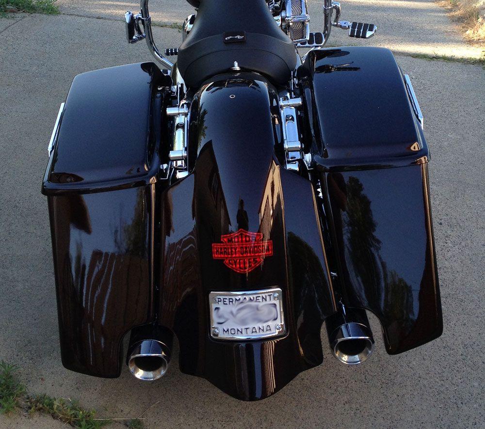 Custom Stretched Saddlebags And Fender Color Matched Fit To Harley Davidson Tour Models 1999