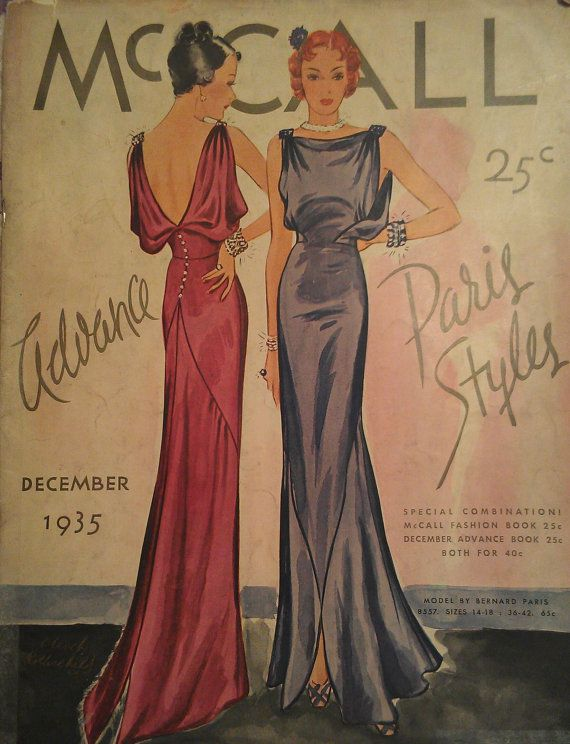 Vintage 30s 1935 Art Deco McCall Counter Pattern | McCall 8557 ...
