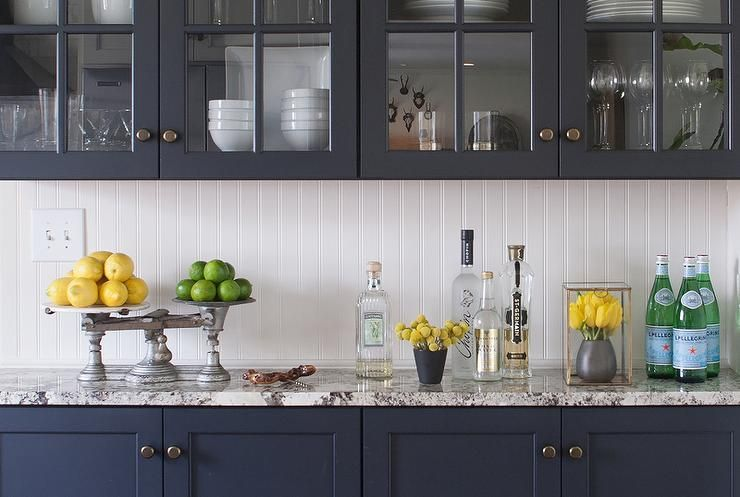 Best Fantastic Kitchen Features Navy Navy Blue Cabinets Paired 640 x 480