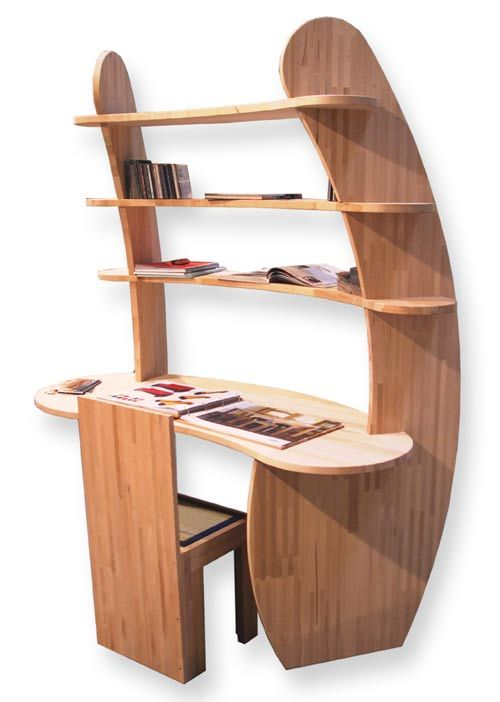 Quot Surrounding Quot Writing Desk In Solid Lamellar Beech Wood