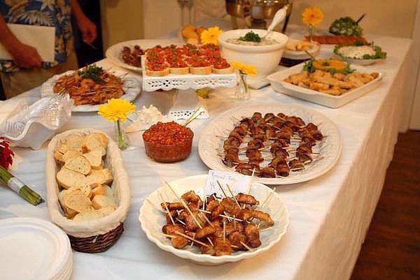 Wedding Reception Food Ideas Decorating