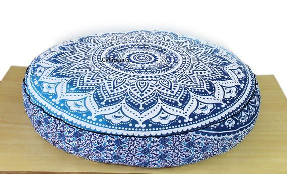 "35"" Soft Mandala Floor Pillow Cover Meditation Cushion Seating Throw Cover Hippie Decorative Bohemia"