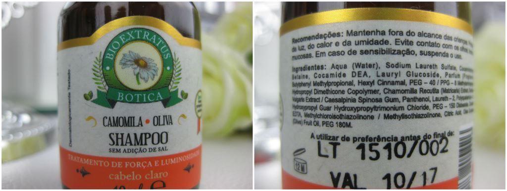 Testei: BioExtratus Botica Camomila! | Blog da Ana