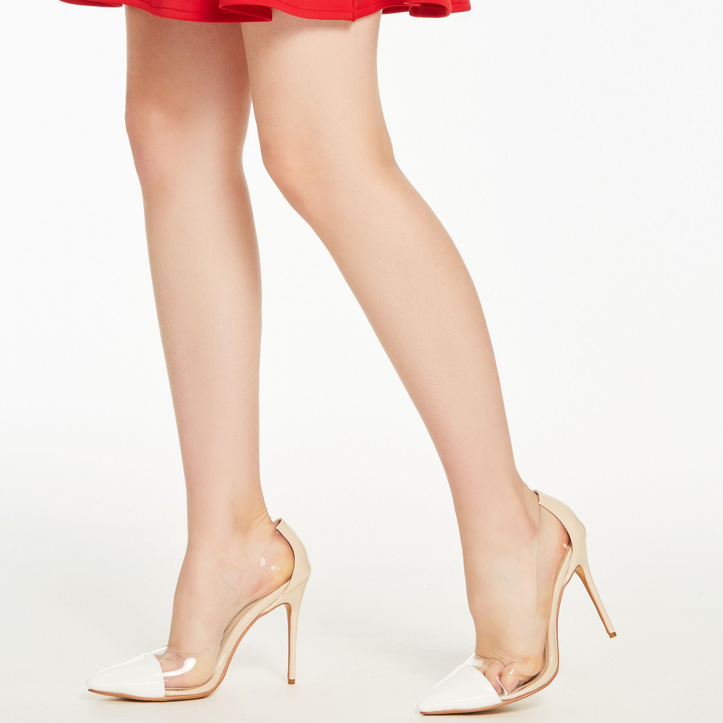 1dd7d9d6cfc $64.99 Dresswe.com SUPPLIES Women's Pumps PU Slip-On Transparent ...