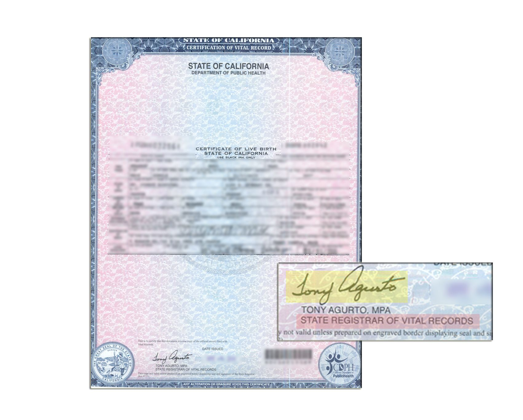 Los angeles certificate of live birth signed by beatriz valdez los angeles certificate of live birth signed by beatriz valdez registrar recorder state of california sample apostille pinterest aiddatafo Gallery