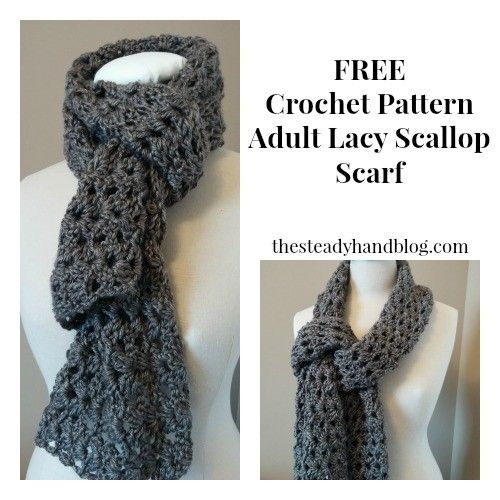 Adult Lacy Scallop Scarf Free Crochet Pattern By Aprile Mazey