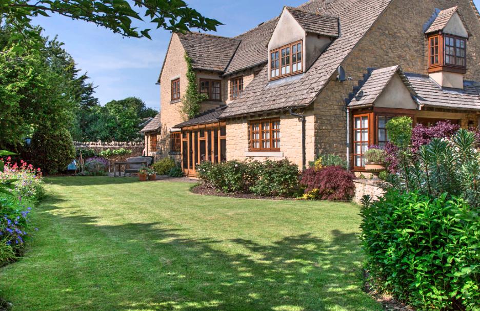 Large back garden | English country gardens | Oxford Garden Design ...
