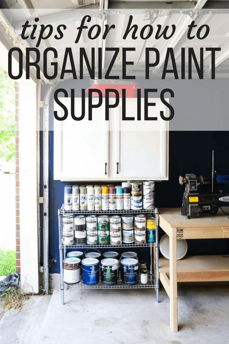 Photo of How to Organize Paint Supplies in the Garage – Love & Renovations