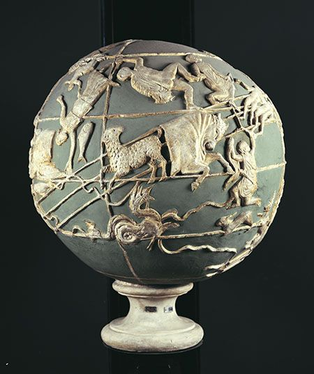 Celestial Bands: Cast Of The Farnese Atlas Globe, Ca. 1930. The Globe