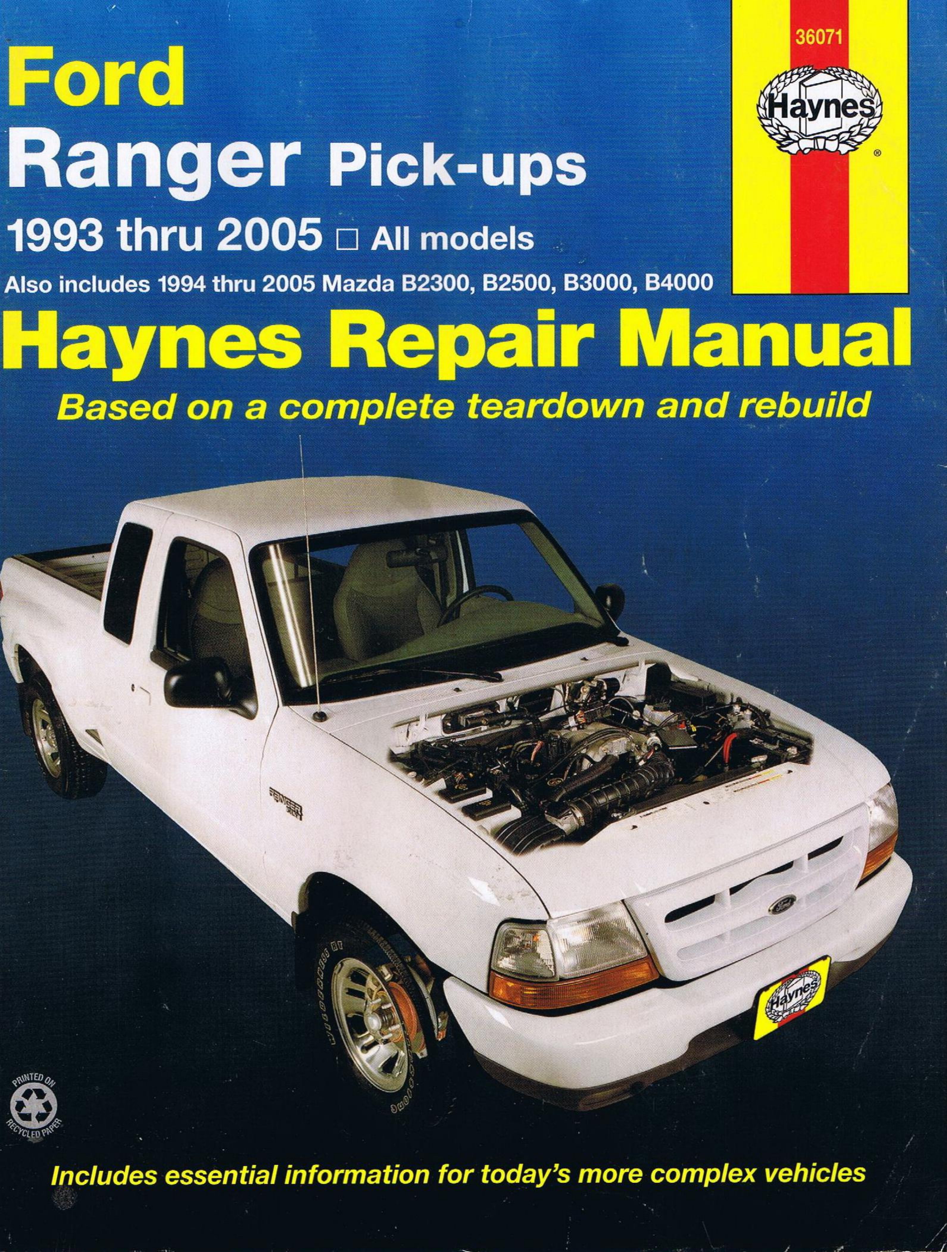 Ford Ranger 1993 2005 Service Manual PDF