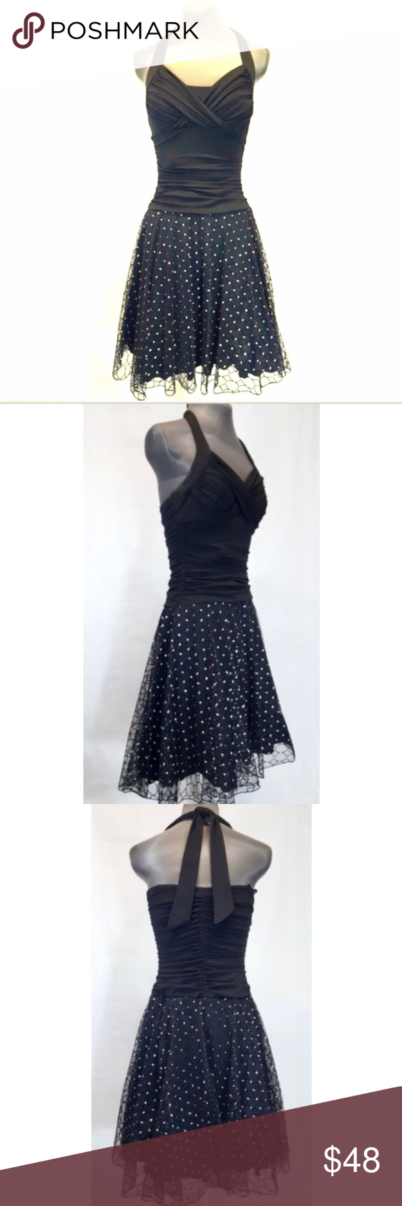 Black sparkly halter cocktail party prom dress pinterest solid