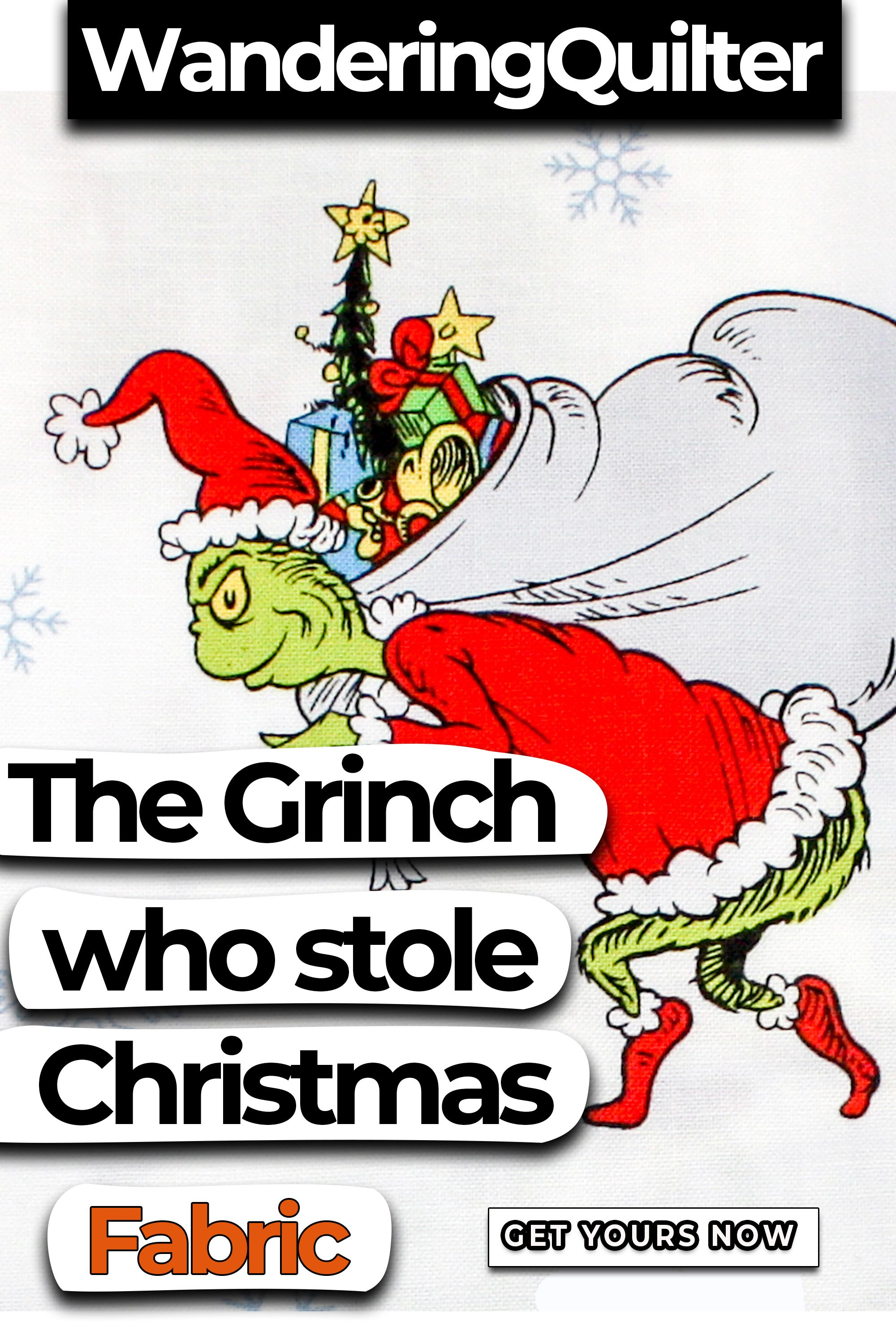Grinch Christmas Fabric By The Yard All Cotton For Face Masks Or Make Some Nursery Decor In 2020 Christmas Fabric Fabric Unique Items Products