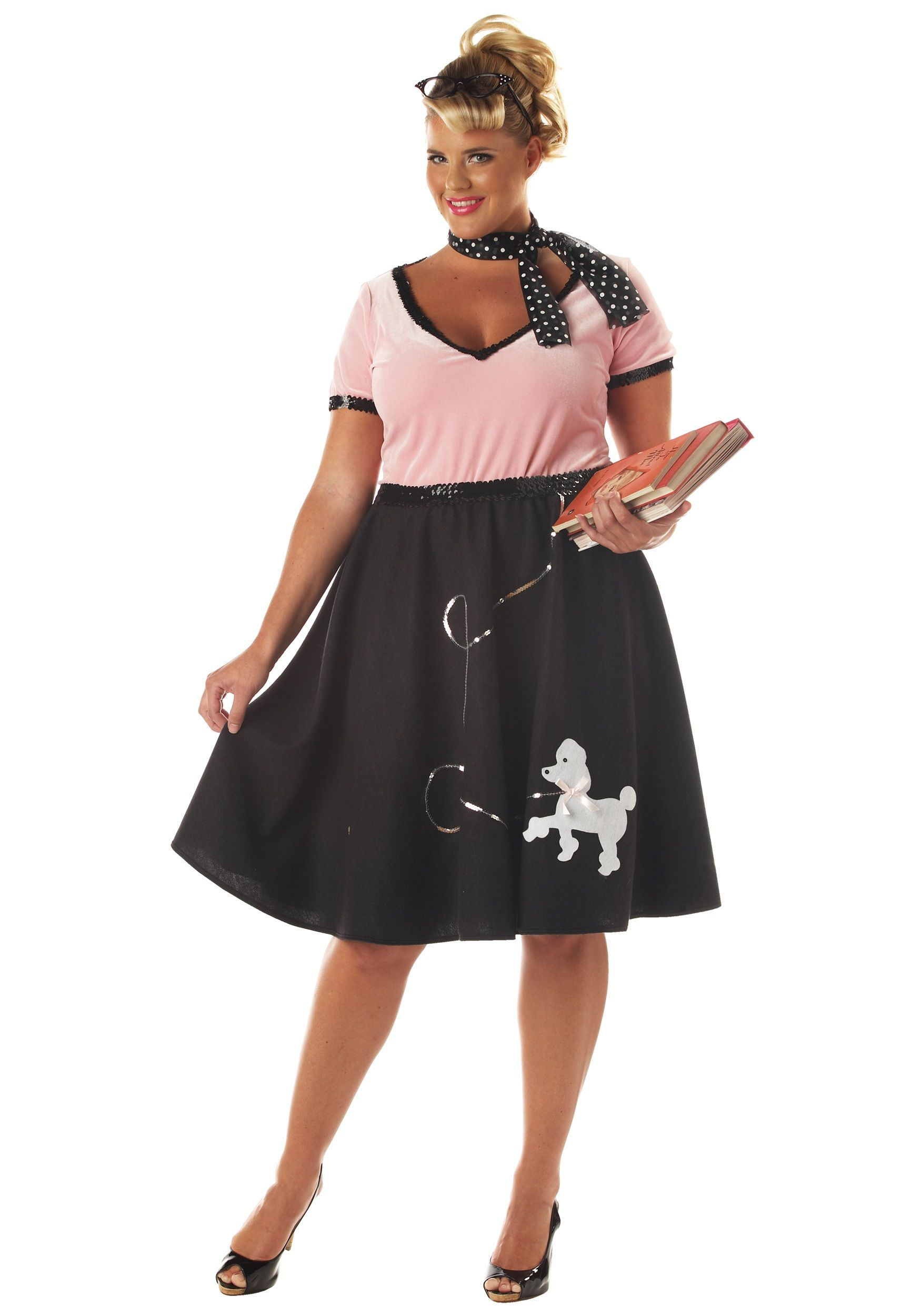 c249a0d141729 Plus Size Halloween Costumes | Plus Size 50s Poodle Skirt Costume ...