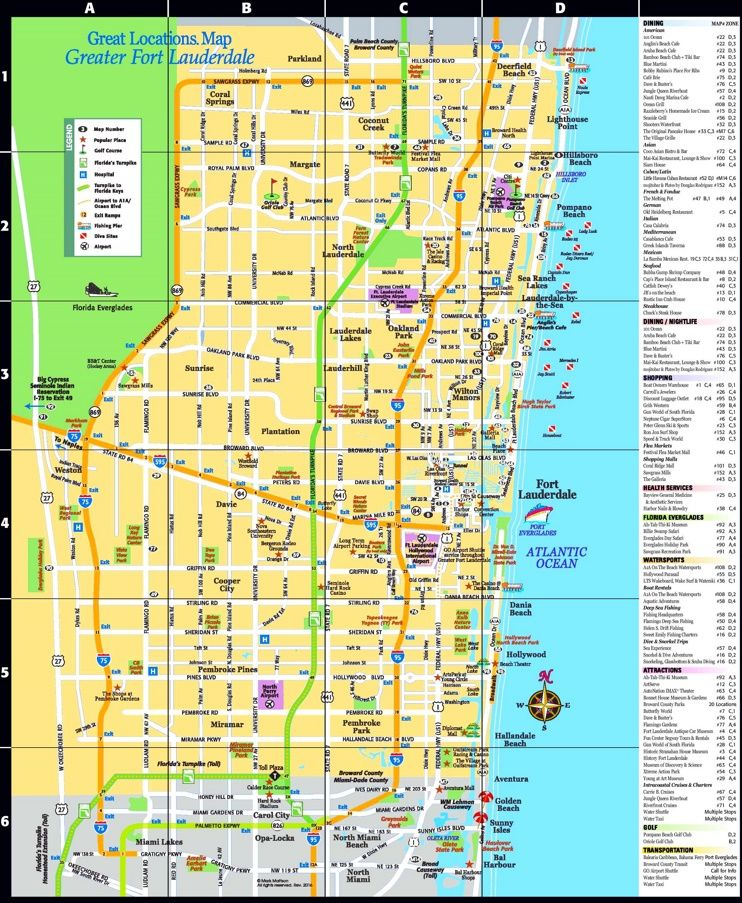 Fort Lauderdale tourist attractions map Maps Pinterest Fort