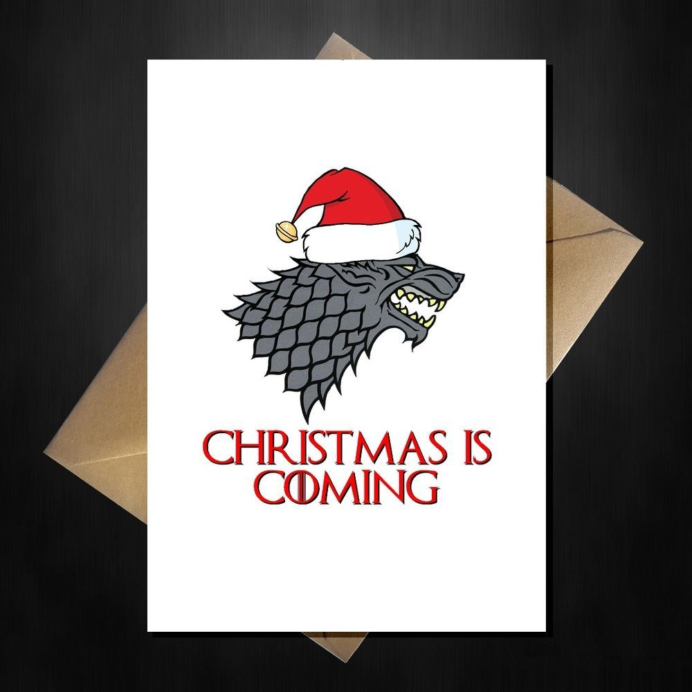 c94d17454 Funny Game of Thrones Xmas Card - Christmas is coming Stark Direwolf GoT  Hodor | Home, Furniture & DIY, Celebrations & Occasions, Cards & Stationery  | eBay!