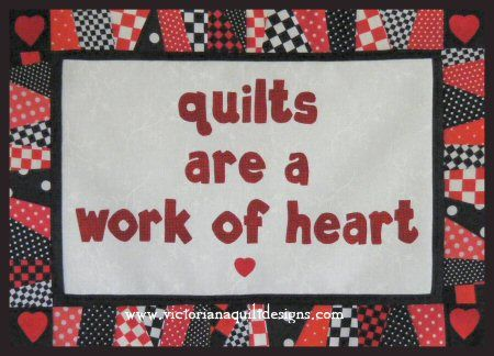 Quilts are a Work of Heart Free Quilt Pattern http://www.victorianaquiltdesigns.com/VictorianaQuilters/PatternPage/quiltsareaworkofheart/quiltsareaworkofheart.htm #quilting #freequiltpattern