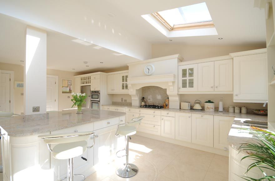 Kitchen: Ivory Painted With Kashmir White Granite By Tierney Kitchens .