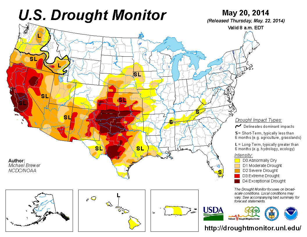 Current US Drought Monitor Maps Apps Pinterest - Us drought map weather com