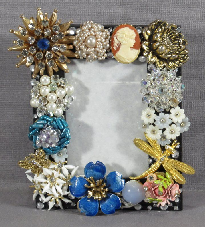 Vintage Costume Jewelry Frame My Creations Jewelry