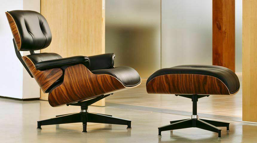 Rosenholz Eames Lounge Chair Mit Ottoman Top Echtes Leder Eames Stuhl Eames Lounge Chair Replica Eames Lounge Eames Lounge Chair