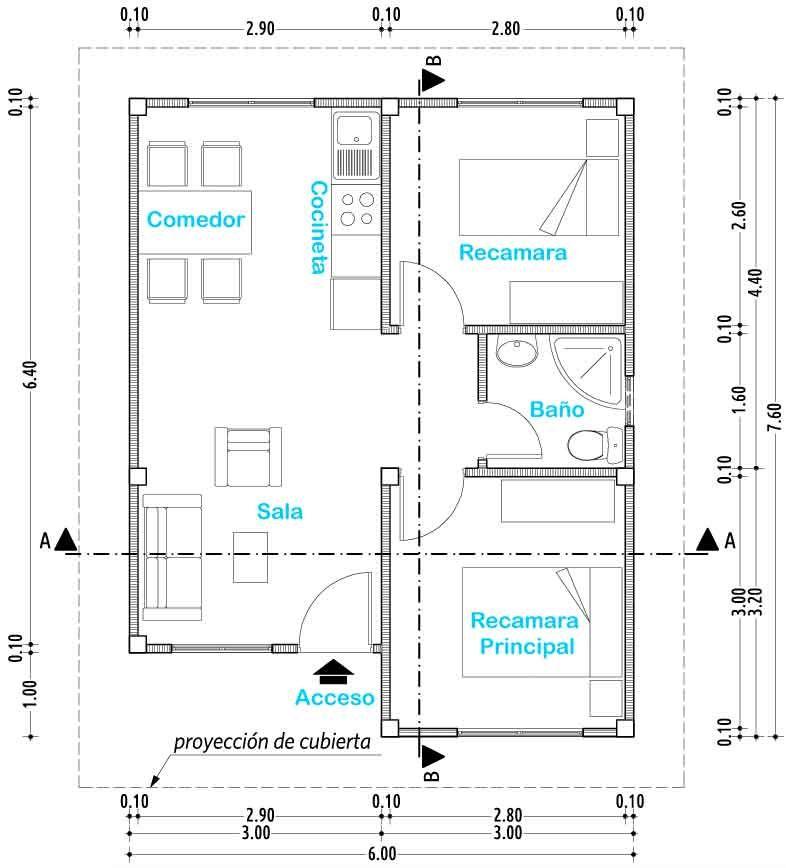 resultado de imagen de planos de casas de interes social