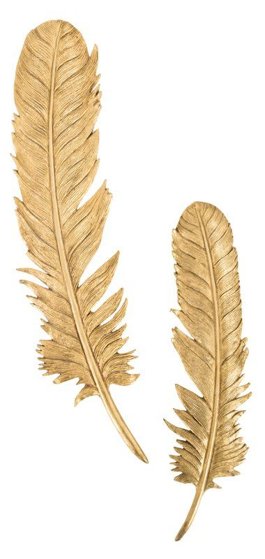 2 Piece Feathers Leaf Resin Wall Decor Set | Wall decor, Resin and ...