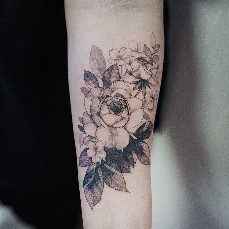 Cover Up Artist Zihwa Tattooer Flower Cover Up Tattoos Flower Tattoo Drawings Special Tattoos