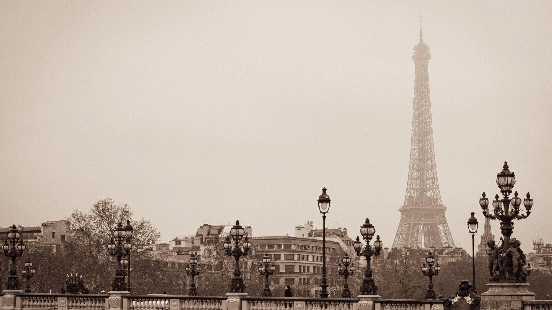 Black And White Paris Wallpapers Desktop For Desktop