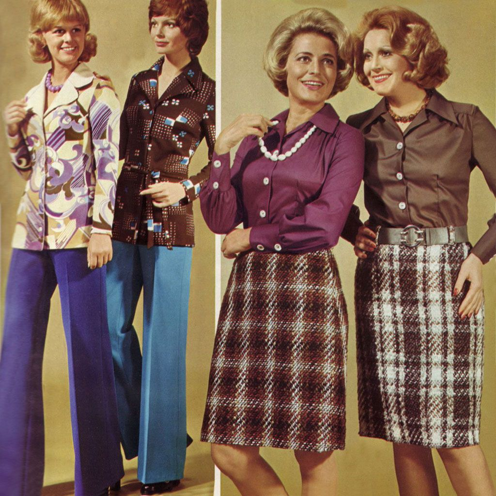 The One With The Purple Collared Shirt And Tweed Skirt With Pearls Is What I Envisioned For