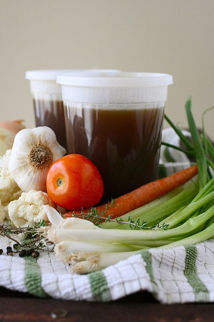 Vegetable Stock- Homemade stock is so easy and is soooo much better than the store bought stuff!