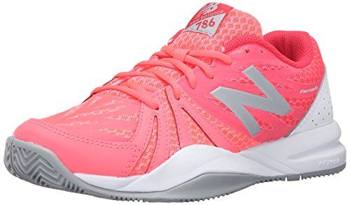 New Balance Women's 696v2 Tennis Shoe, Teal/White, 6.5 B US
